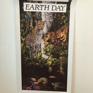 Vintage 1991 Earth Day poster mint condition